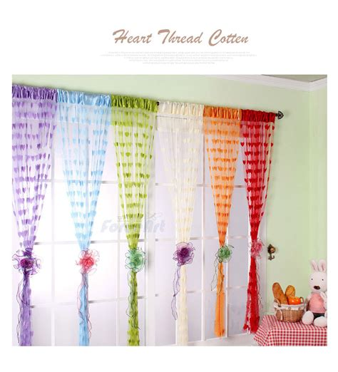 curtain colors peach heart line shade curtain fashion heart shaped