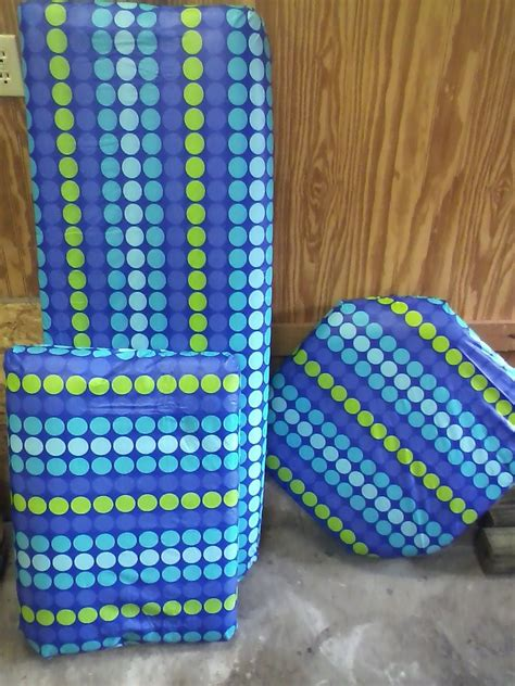 boat cushions cheap diy boat cushions for cheap i used vinyl tablecloths from