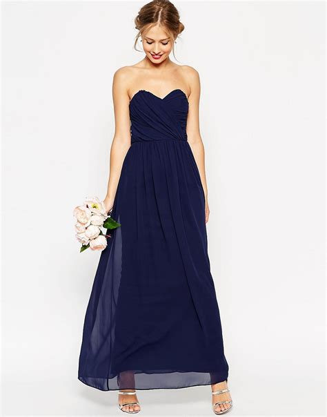 dressy maxi dresses wedding asos asos wedding bandeau maxi dress at asos