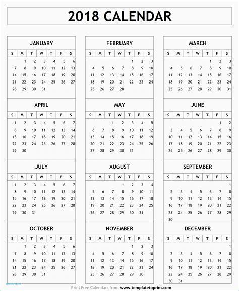 calendar 2018 template pdf fresh 2018 calendar template pdf calendar