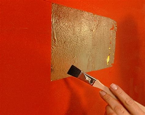 gold accent wall how to gold leaf accent wall hgtv