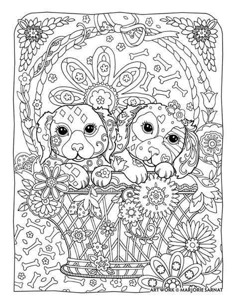 coloring pages for adults dogs creative haven dazzling dogs coloring book by marjorie