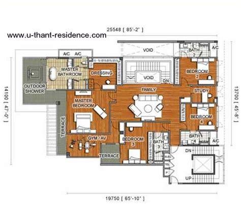 Dua Residency Floor Plan by U Thant Residence Properties Kuala Lumpur City