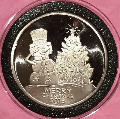 uncle sam snowman merry christmas  troy oz  fine silver  ag coin medal ebay
