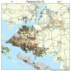 panama city florida on a map panama city florida map 1254700