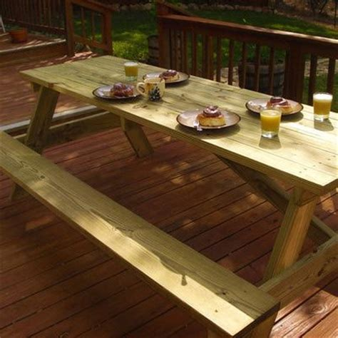 Build Your Own Picnic Table by Free Woodworking Plans Build Your Own Picnic Table