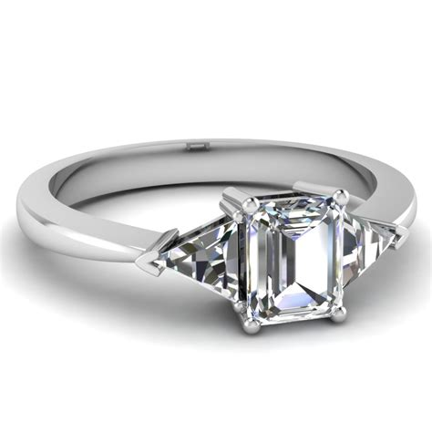 7 Engagement Rings From Since1910 by Tapered Trillion 3 Emerald Cut Engagement Ring In