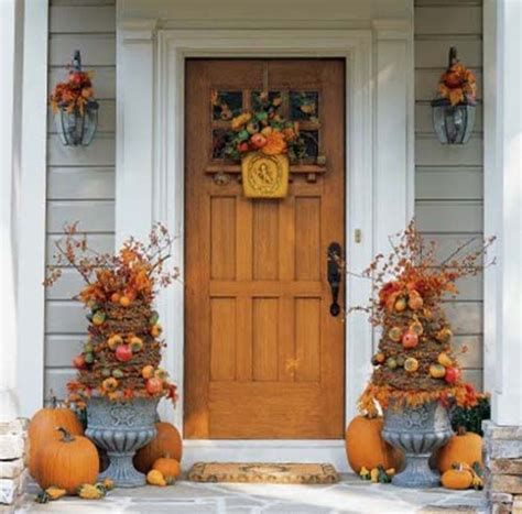 Autumn Front Door Decorations Decorate Your Front Door For Thanksgiving Doors By Design
