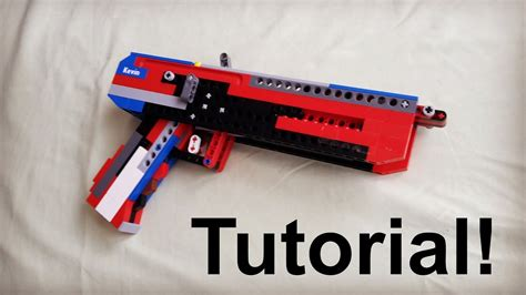 lego revolver tutorial lego full auto blowback pistol tutorial instruction youtube
