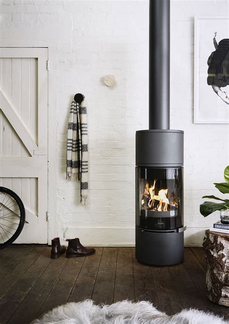 alcor slow combustion wood stove oblica designer fireplaces
