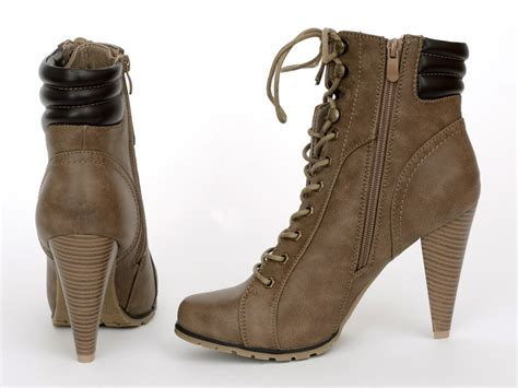 Boot E Sapi 25 boots taja 25 khaki high heels shop by fuss schuhe schuhe made in italy