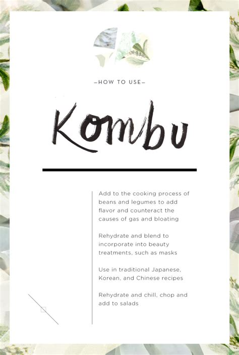 wellness encyclopedia why kombu is good for you the