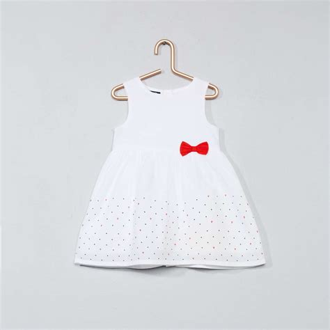 baby jurk katoen bedrukte jurk van katoen meisjes babykleding kiabi 4 80