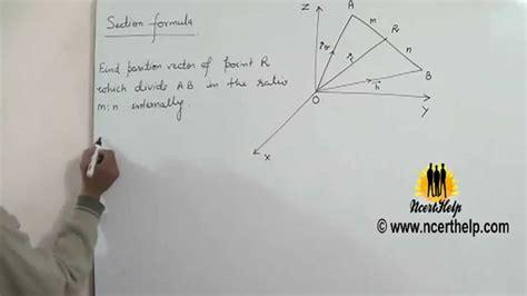 section formula vectors section formula of vectors devides internally and