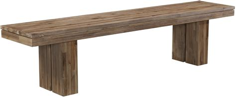rustic bench waverly acacia wood modern rustic dining bench with rectangular leg base by cresent