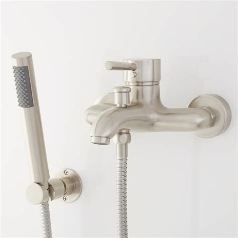 bathtub faucet with diverter for shower tub spout with handheld shower diverter image of bathtub