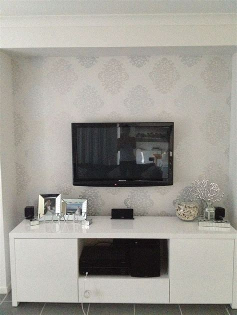 feature wallpaper for grey walls eijffinger silver damask wallpaper creates a beautiful