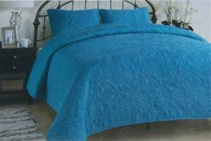 Oversized Coverlets King Size Bed New Teal Oversized 100 Cotton 3 King Size Quilt Set