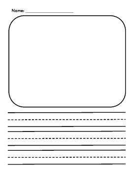 draw and write paper drawing and writing paper homeschool prek 2