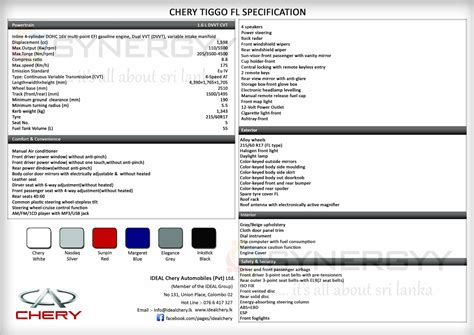 rs for suv chery tiggo suv now available in srilanka for rs 4 175 000 for permit holder