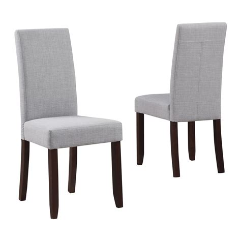 Fabric Dining Chairs Sale Simpli Home Ws5113 4 Acadian Fabric Parson Dining Chair Set Of 2 Atg Stores