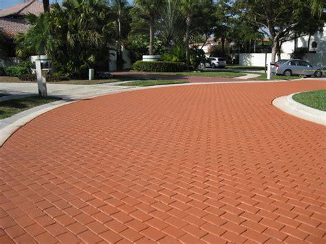 Brick Floor Sealer by Coloron Colored Sealer On Brick Paver Driveway