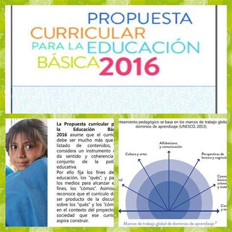 subportal de educacin escalafones 2016 resumen de la propuesta curricular para la educaci 243 n
