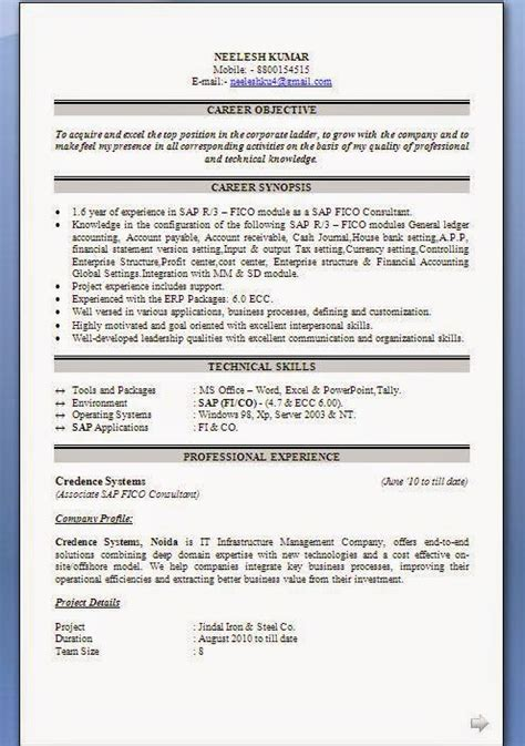 sap fico resume sample sap fico resume sample pdf 2585 sap fico