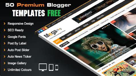 50 قالب إحترافي لمدونة بلوجر مجانا premium blogger