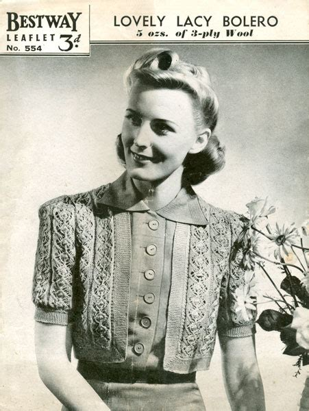 vintage knitting pattern lady vintage ladies bolero knitting patterns available from the