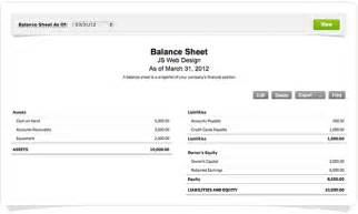 introducing an easy way to create a balance sheet in