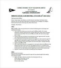 How To Type Minutes From A Meeting Template by Club Meeting Minutes Template 11 Free Word Excel Pdf