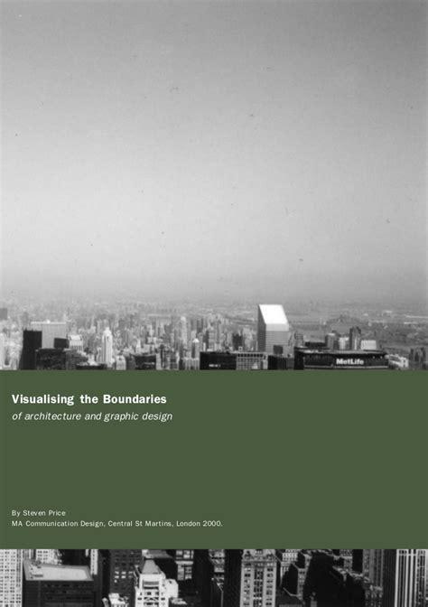graphic design dissertation ideas visualising boundaries between architecture and graphic