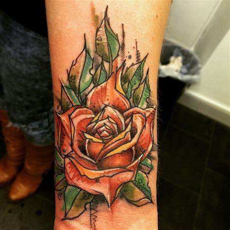 secret tattoo secret ink truro cornwall tim roses colourful