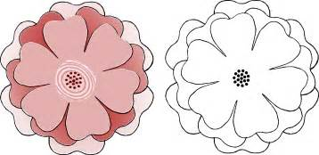 flower template with 6 petals clipart flower multi choice 6 petal s3 template