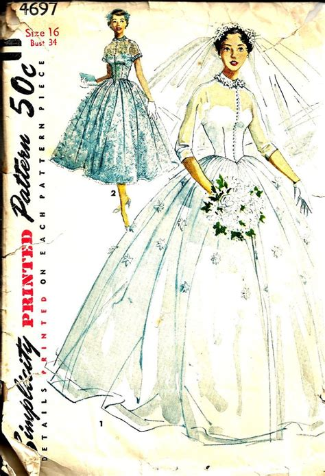 wedding dress pattern making books vintage sewing pattern bridal gown simplicity 4697
