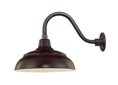 Millennium Lighting Architectural Bronze R Series 1 Light Gooseneck Lights Outdoor