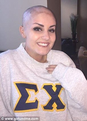 head shaved for surgery allie allen surprises homecoming date battling cancer by
