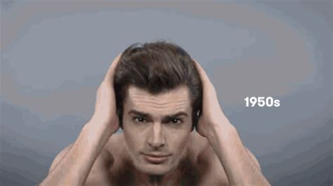 mens hair styles during the last 100 years refinery29 watch 100 years of men s hairstyles in under 2