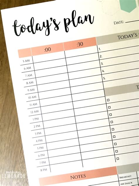 free printable 2016 day planner free printable day planner calendar template 2016