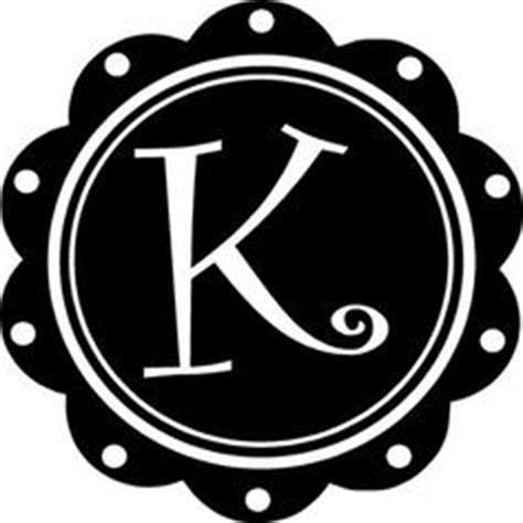 Wall Candy Stickers 1000 images about monograms on pinterest letter k