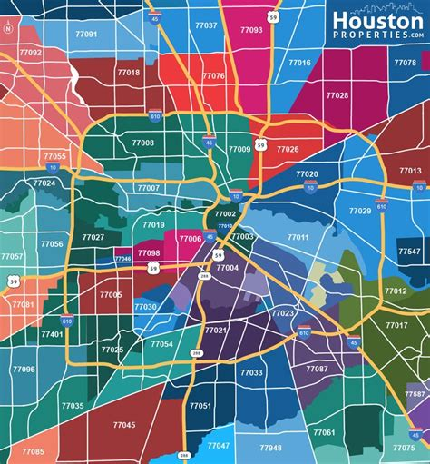 printable zip code map houston tx houston zip code map great maps of houston pinterest