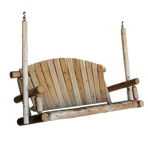 log swing plans 16 beautiful outdoor furniture designs