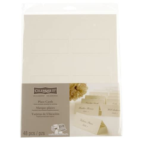 template for place cards celebrate it celebrate it occasions place cards