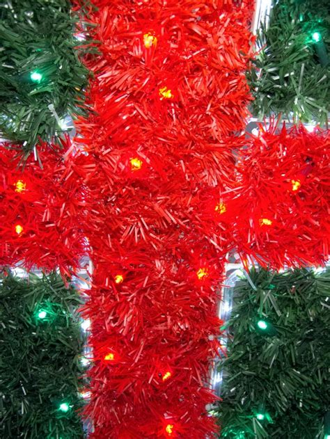 vintage christmas rope and tinsel tinsel present led rope light motif 1 1m lights the warehouse