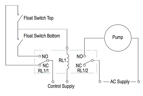 wiring diagram for normally open float switch