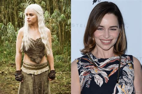 Emilia clarke brunette bob or long blond locks