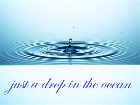 a drop in the wow a drop in the ocean my musings