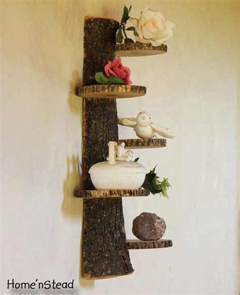 How To Build A Trophy Shelf by Tiered Display Stand Log Trophy Shelf Trinket Rustic Home