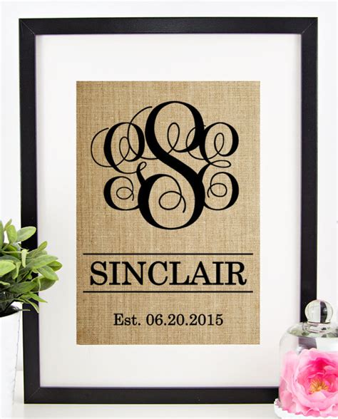 Wedding Gift Etiquette For Couples by Personalized Wedding Gift For Rustic By Chathlace